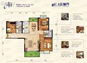 富丽金澜湾3室2厅2卫109--122平方米户型图