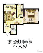 福顺尚景1室1厅1卫0平方米户型图