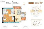 碧桂园琥珀湾3室2厅2卫0平方米户型图