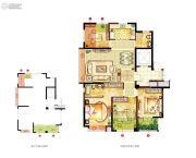宏泰风花树4室2厅2卫134平方米户型图