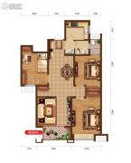 润德天悦城3室2厅2卫105平方米户型图