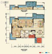 置信凯旋国际4室2厅2卫109--114平方米户型图