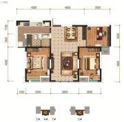 怡馨华庭3室2厅1卫105平方米户型图