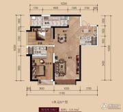 中广宜景湾・尚城2室2厅2卫110平方米户型图