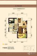 中建长清湖1室1厅1卫48平方米户型图