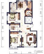 城市之星3室2厅1卫0平方米户型图
