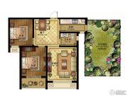 清山公爵城2室2厅1卫93平方米户型图