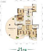 翰林居5室2厅4卫236平方米户型图