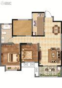 香榭里畔山兰溪2室2厅1卫101平方米户型图