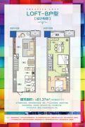 乌鲁木齐经开万达广场1室1厅1卫61平方米户型图