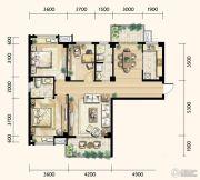 明发城市广场3室2厅2卫120平方米户型图