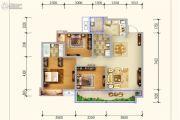 保利锦江里3室2厅2卫106平方米户型图