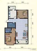 中和金佰2室2厅2卫89--90平方米户型图