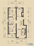 燕赵国际2室2厅1卫98平方米户型图