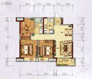 万科城・城果3室2厅1卫98平方米户型图