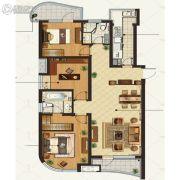 金地棕榈岛3室2厅2卫140平方米户型图