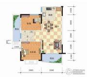 天元海天新城2室2厅1卫86平方米户型图