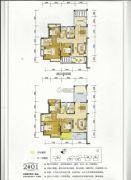 百盛公馆・世纪1号3室2厅2卫142平方米户型图