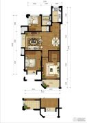阳光城丽兹公馆3室2厅1卫0平方米户型图