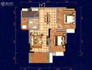 中天・宝电馨城2室2厅1卫106平方米户型图
