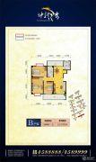 神龙湾3室2厅1卫122平方米户型图