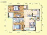 润莱金座3室2厅1卫95平方米户型图