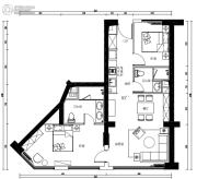 金融街海世界2室2厅2卫0平方米户型图