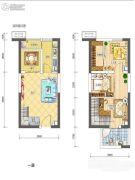 金科米兰大道3室2厅2卫50平方米户型图