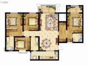 曲江龙邸4室2厅1卫153平方米户型图
