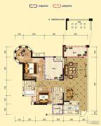 凤凰城2室2厅2卫111平方米户型图