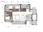 碧桂园云顶4室2厅2卫114平方米户型图