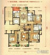 瑞鸿・中央华府4室2厅2卫125平方米户型图