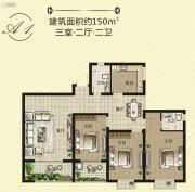 天泽茗园3室2厅2卫150平方米户型图