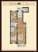 明光翡翠湾2室2厅2卫80--90平方米户型图