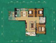 中建宜城春晓3室2厅1卫103平方米户型图