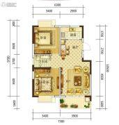 康平家园康平福邸2室2厅1卫82平方米户型图