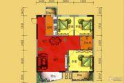梓江新城3室2厅1卫119平方米户型图