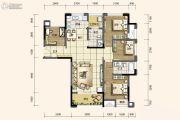 旭阳台北城敦美里3室2厅2卫87平方米户型图