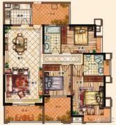充耀盛荟3室2厅2卫130平方米户型图