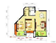 海御新天地2室2厅1卫86平方米户型图