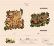 奥体玉园3室2厅2卫137平方米户型图