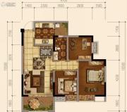 天府欧城3室2厅1卫77平方米户型图