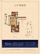 蔚蓝海岸3室2厅2卫108平方米户型图