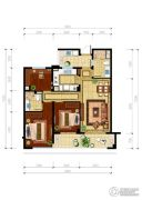 绿城・玉兰花园3室2厅2卫112平方米户型图