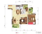 世茂茂悦府2室2厅1卫72平方米户型图