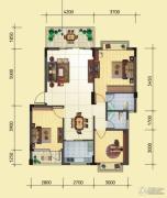 蓝湾国际城3室2厅2卫99平方米户型图