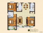 中购御景城3室2厅2卫128平方米户型图