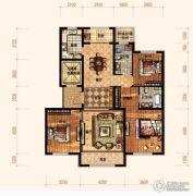 廊坊孔雀城悦府3室2厅1卫138平方米户型图