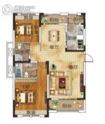 升华・翡翠一品2室2厅2卫118平方米户型图