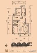 长阳光和作用第Ⅱ季3室2厅1卫94平方米户型图